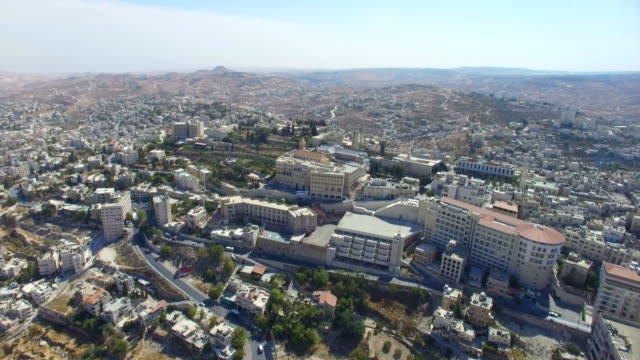 Aerial view of Bethlehem-a Palestinian city located in the central West Bank, Palestine