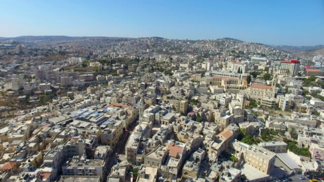 aerial view of bethlehem-a palestinian city located in the central west bank, palestine - west bank stock videos & royalty-free footage