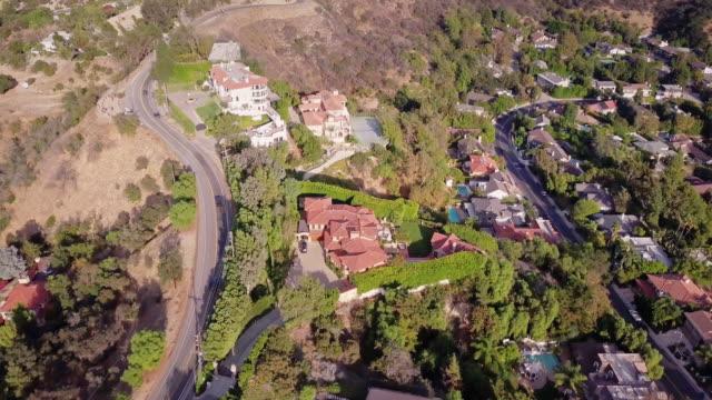 vidéos et rushes de vue aérienne du quartier de beverly hills - beverly hills