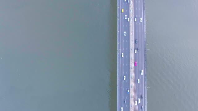 vídeos y material grabado en eventos de stock de vista aérea de la señal de puente bhumiphol de la capital de tailandia bangkok - antena parte del cuerpo animal
