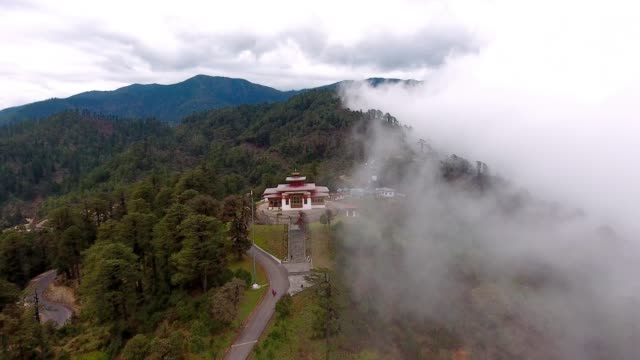aerial view of bhutan - bhutan stock videos & royalty-free footage