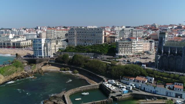 Aerial view of Biarritz