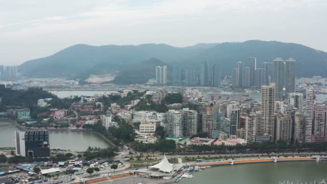 aerial view of bishop's hill, macau - macao stock videos & royalty-free footage
