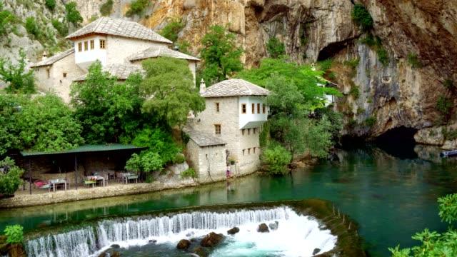 Aerial View of Blagaj Tekija (Blagaj Tekke) - Dervish Monastery Blagaj / Mostar - Bosnia and Herzegovina