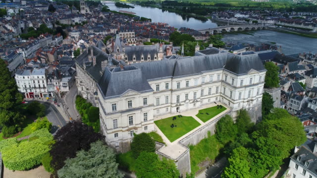 Aerial view of Blois Castle