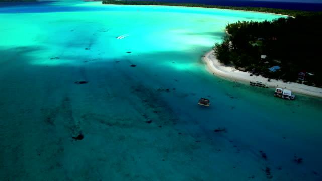 aerial view of bora bora island south pacific - polynesian ethnicity stock videos & royalty-free footage