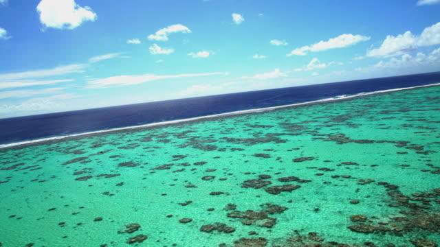 aerial view of bora bora tupai heart island - polynesian ethnicity stock videos & royalty-free footage