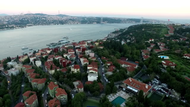 aerial view of bosphorus
