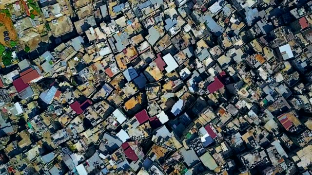 aerial view of bourj el-barajneh - southern beirut - exile stock videos & royalty-free footage