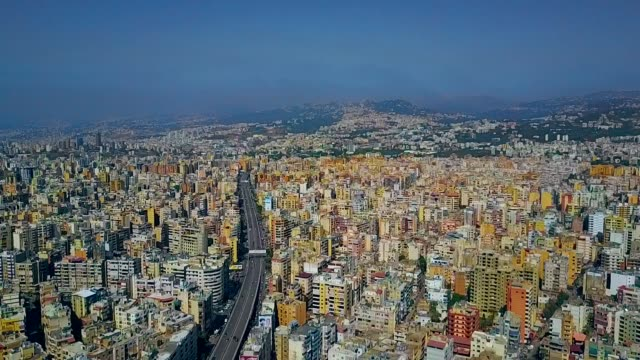 aerial view of bourj el-barajneh - southern beirut - middle east stock videos & royalty-free footage