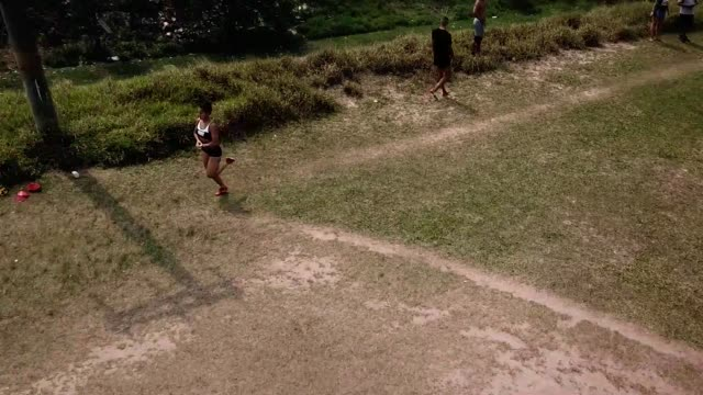 aerial view of brazilian athlete ana claudia lemos silva exercises during a training session at the shoulder of the imigrantes highway on september... - pan american highway stock videos & royalty-free footage