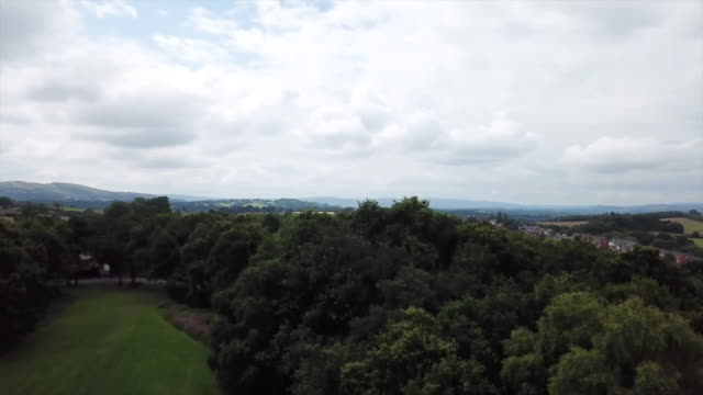 aerial view of brecon - natural parkland stock videos & royalty-free footage
