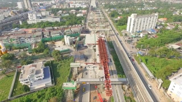 Luftaufnahme von Bridge-Konstruktion
