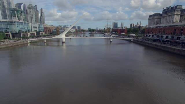 Aerial view of bridge in Buenos Aires, Argentina