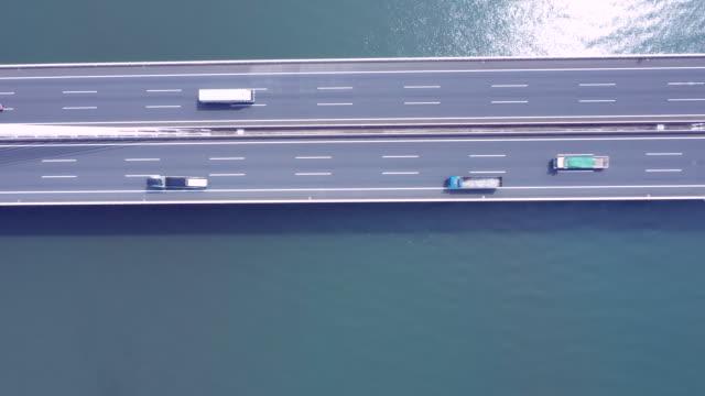 ブリッジの空中ビュー - 橋点の映像素材/bロール