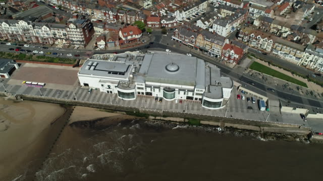 aerial view of bridlington spa - bridlington stock-videos und b-roll-filmmaterial