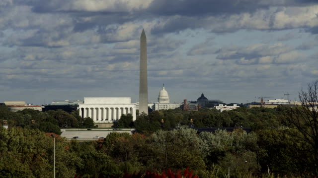 Aerial view of  buildings along the National Mall, Washington D.C, USA