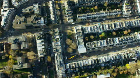 aerial view of buildings around kensington palace london - hd format stock-videos und b-roll-filmmaterial