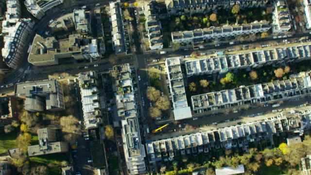 aerial view of buildings around kensington palace london - kensington und chelsea stock-videos und b-roll-filmmaterial