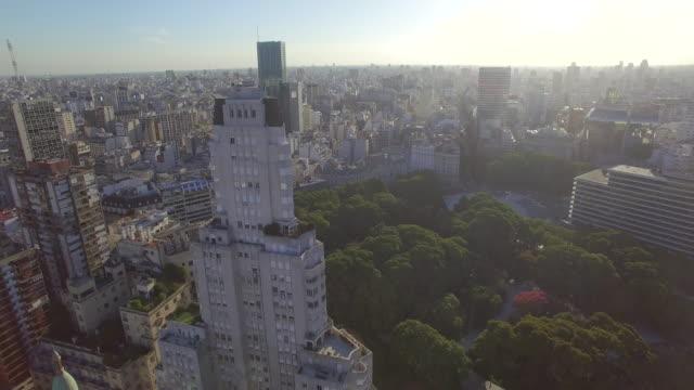 vídeos y material grabado en eventos de stock de aerial view of buildings downtown buenos aires argentina - buenos aires