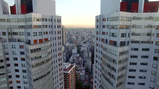 aerial view of buildings downtown buenos aires argentina - buenos aires stock-videos und b-roll-filmmaterial