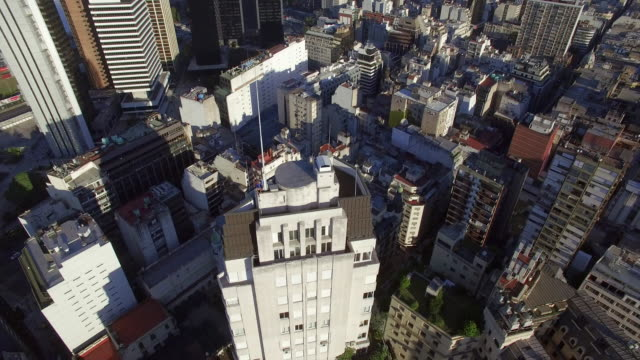 Aerial view of buildings downtown Buenos Aires Argentina
