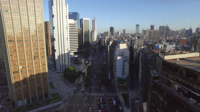 aerial view of buildings downtown buenos aires argentina - buenos aires stock videos & royalty-free footage