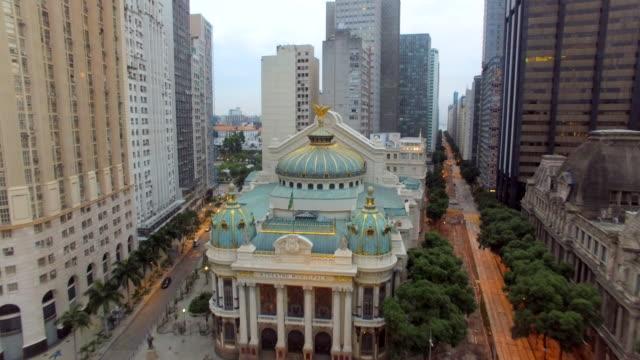 Aerial view of buildings downtown Rio De Janeiro