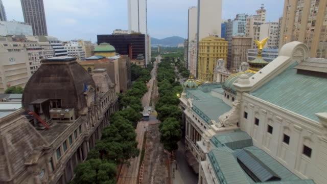 vídeos de stock, filmes e b-roll de aerial view of buildings downtown rio de janeiro - centro da cidade