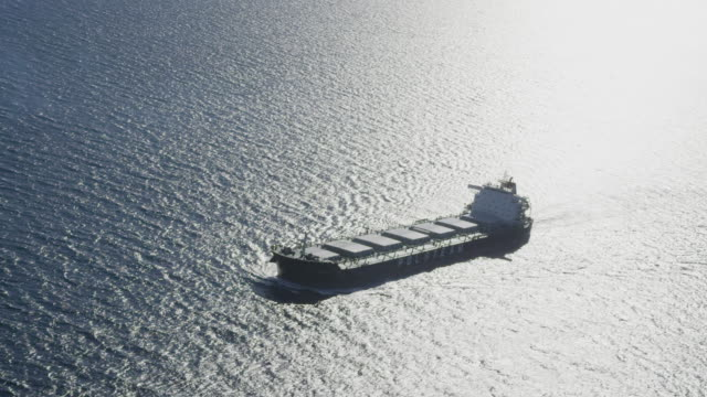aerial view of bulk carrier, RED R3D 4k