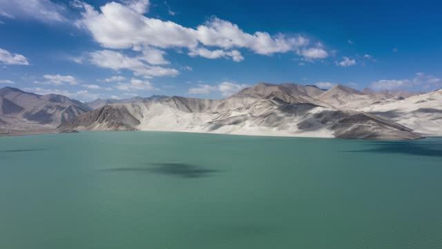 aerial view of bulunkou lake - pacific ocean stock videos & royalty-free footage
