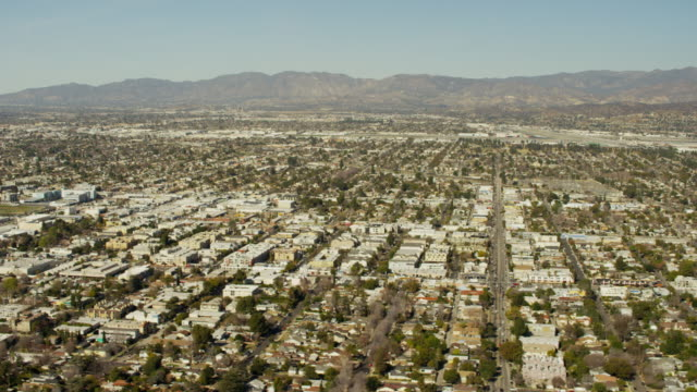 Aerial view of Burbank Glendale community Los Angeles