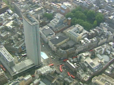 aerial view of busy city junction, london. ntsc, pal - tottenham court road stock videos & royalty-free footage