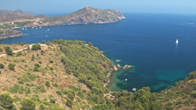 Aerial view of Cala Rostella in Cap de Creus