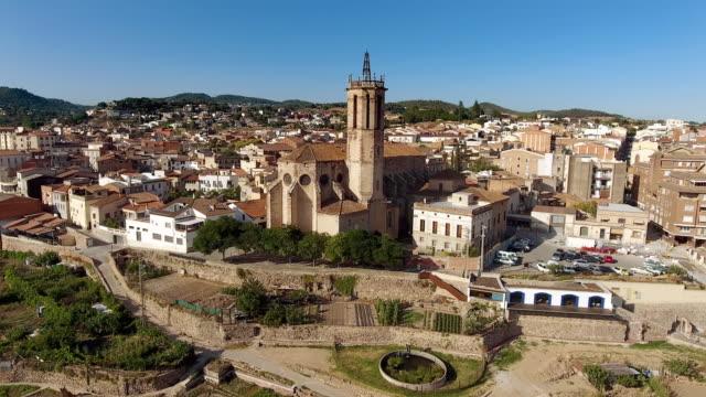 Luchtfoto van Caldes De Montbui in Barcelona