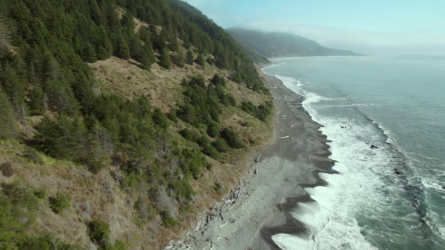 aerial view of california's lost coast and the king range wilderness. - northern california stock videos & royalty-free footage