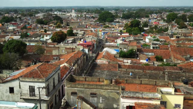 aerial view of camaguey, cuba - sancti spiritus province stock videos and b-roll footage