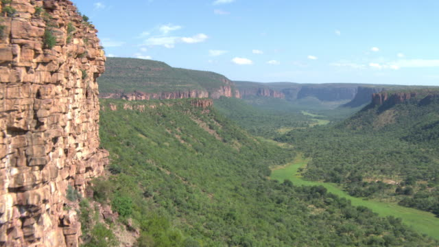 Aerial view of Canyon along rock face in Waterberg Biosphere