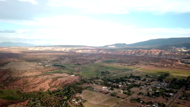 4k aerial view of canyons near capitol reef - southwest usa stock videos and b-roll footage