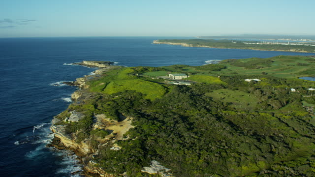 Aerial view of Cape Banks Helicopter base Sydney