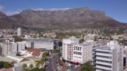 Aerial view of Cape Town, South Africa during the Coronavirus lockdown