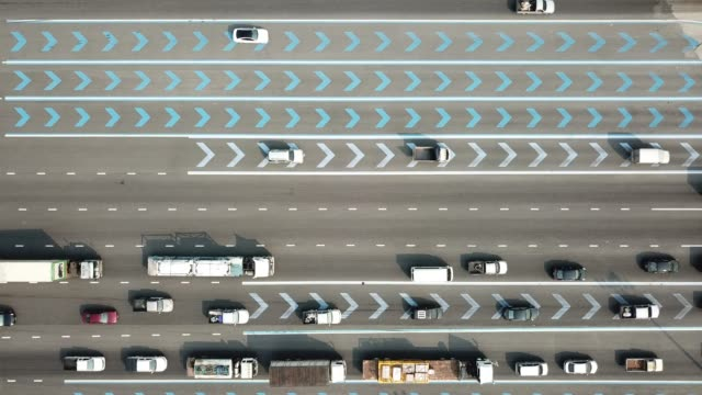 aerial view of car on the road - traffic stock videos & royalty-free footage