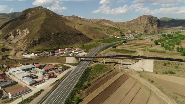 aerial view of cargo train at jitong railway on may 24 2017 in inner mongolia china one belt and one road summit had held in china recently and the... - belt stock videos & royalty-free footage