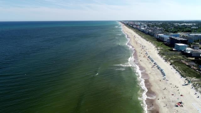 aerial view of carolina beach, north carolina - carolina beach stock videos & royalty-free footage