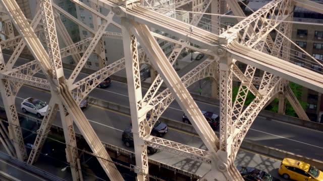 aerial view of cars crossing bridge. traffic transportation background
