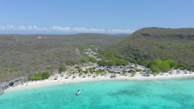 Luftbild von Cas Abao Strand und Küstenabschnitt in Curacao