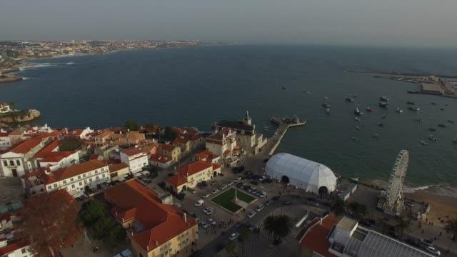 ポルトガルのカスカイスの空中写真 - エストリル点の映像素材/bロール