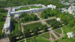 Aerial view of Catherine palace and Catherine park