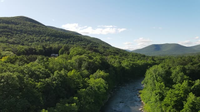 aerial view of catskill mountains in new york - appalachian mountains stock videos & royalty-free footage