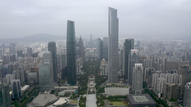 aerial view of cbd - liyao xie stock videos & royalty-free footage
